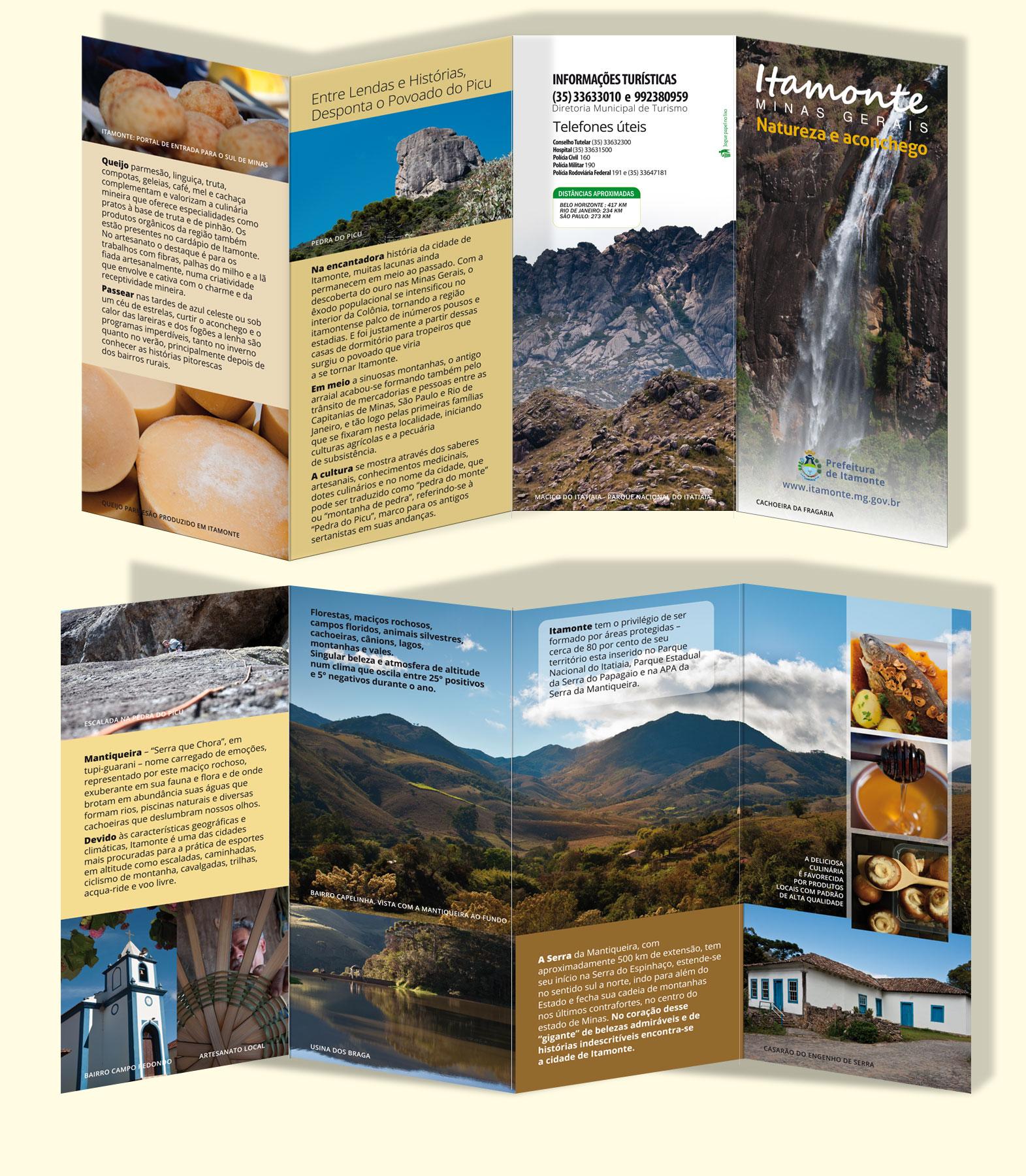 Prefeitura de Itamonte – Folder turístico