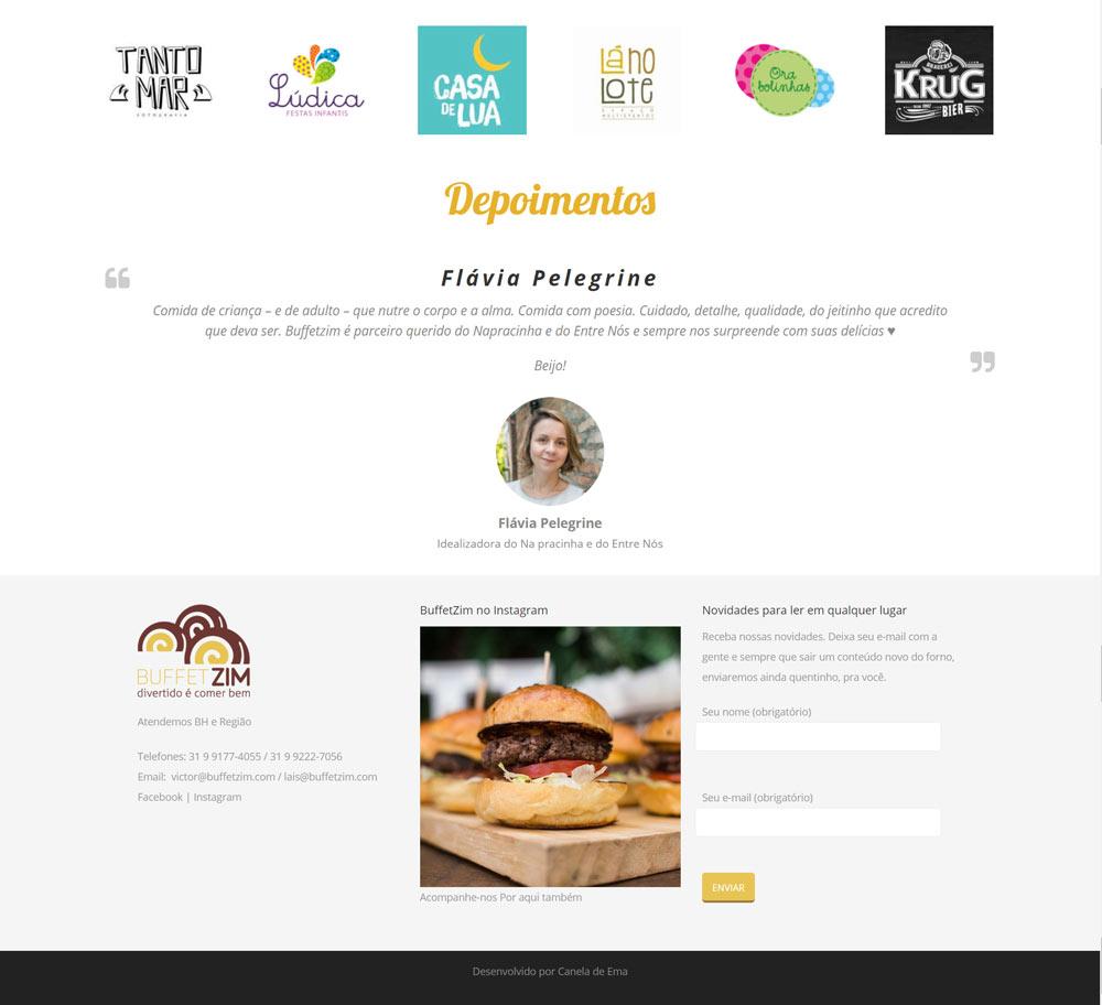 Novo website Buffet Zim